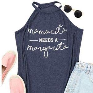Tops - 🆕Mom's Mamacita Needs A Margarita Halter Tank Top